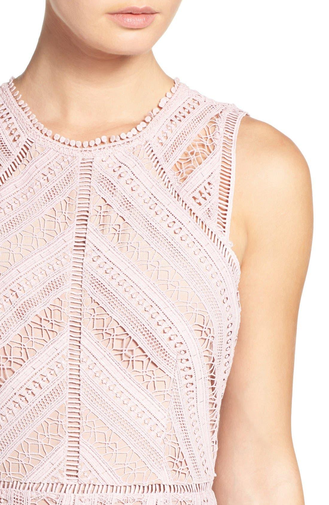 Alternate Image 5  - Greylin Lace Fit & Flare Dress