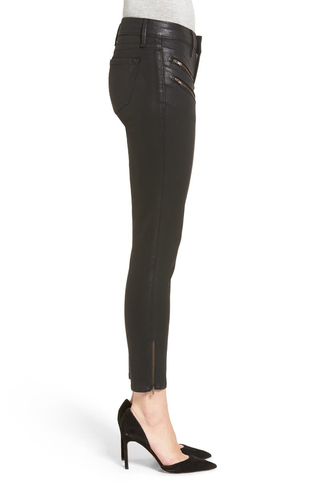 Alternate Image 3  - Trouvé Coated Skinny Jeans