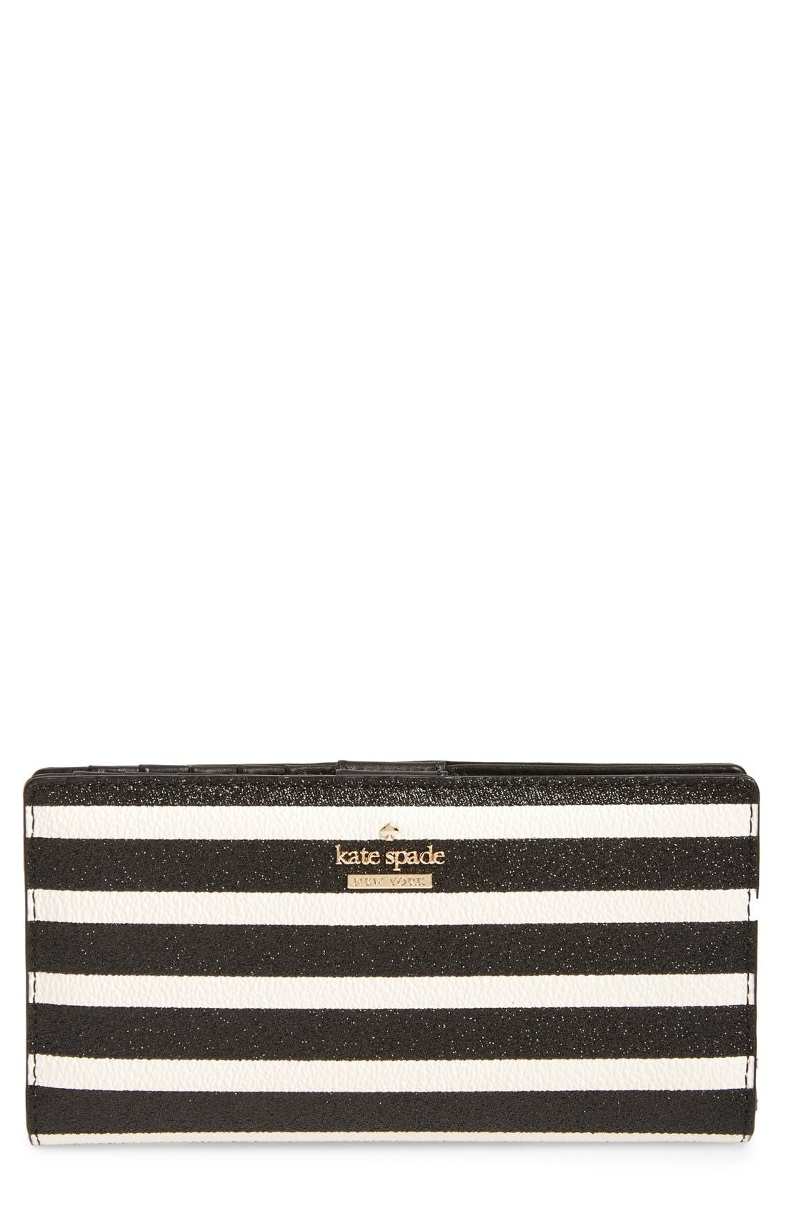 Main Image - kate spade new york hawthorne lane stacy glitter & faux leather wallet