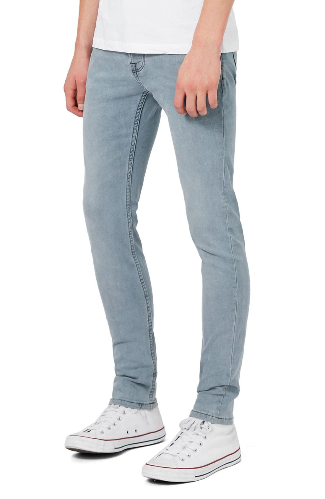 Alternate Image 5  - Topman Stretch Skinny Fit Jeans