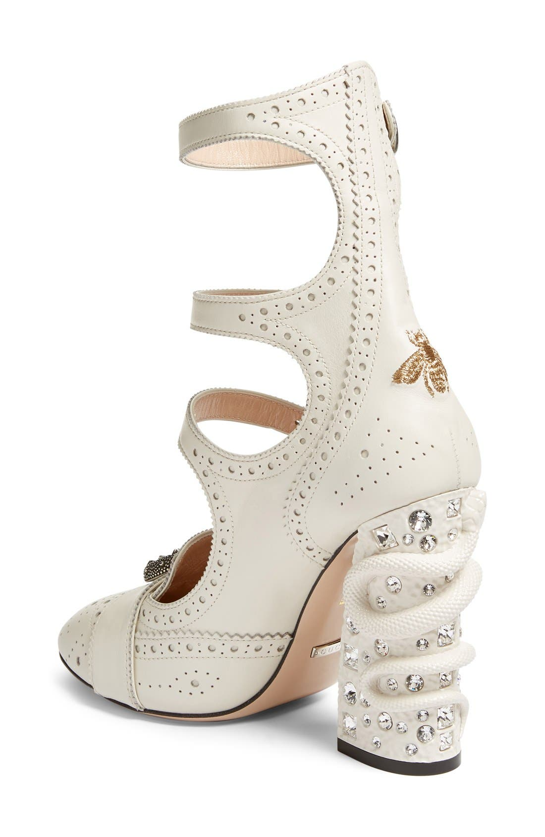 Alternate Image 2  - Gucci Queercore Embellished Gladiator Pump (Women)