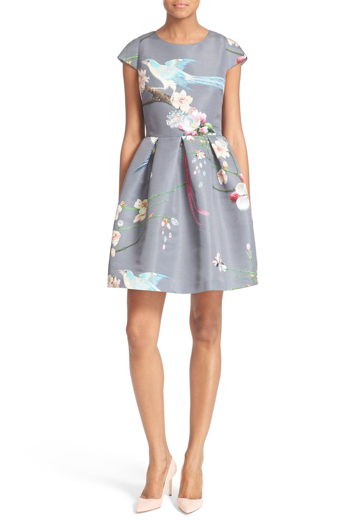 TED BAKER LONDON Zaldana Print Fit & Flare