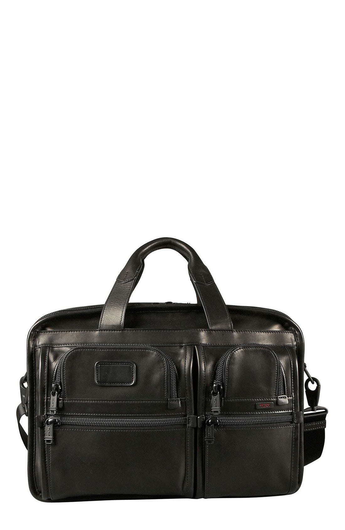 Alternate Image 1 Selected - Tumi 'Alpha' Expandable Organizer Leather Computer Briefcase