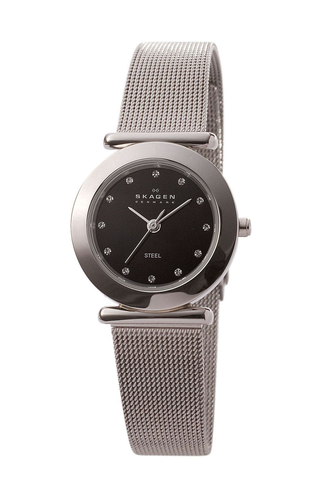 Alternate Image 1 Selected - Skagen Mesh Band Watch, 25mm