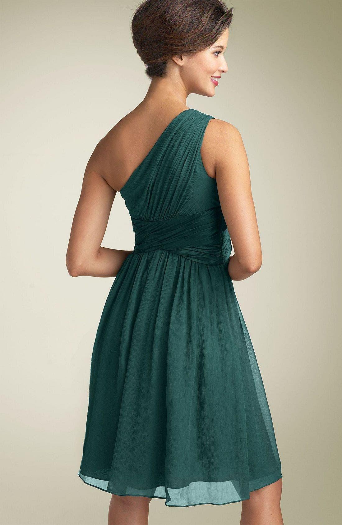 Alternate Image 2  - Maggy London One Shoulder Silk Dress