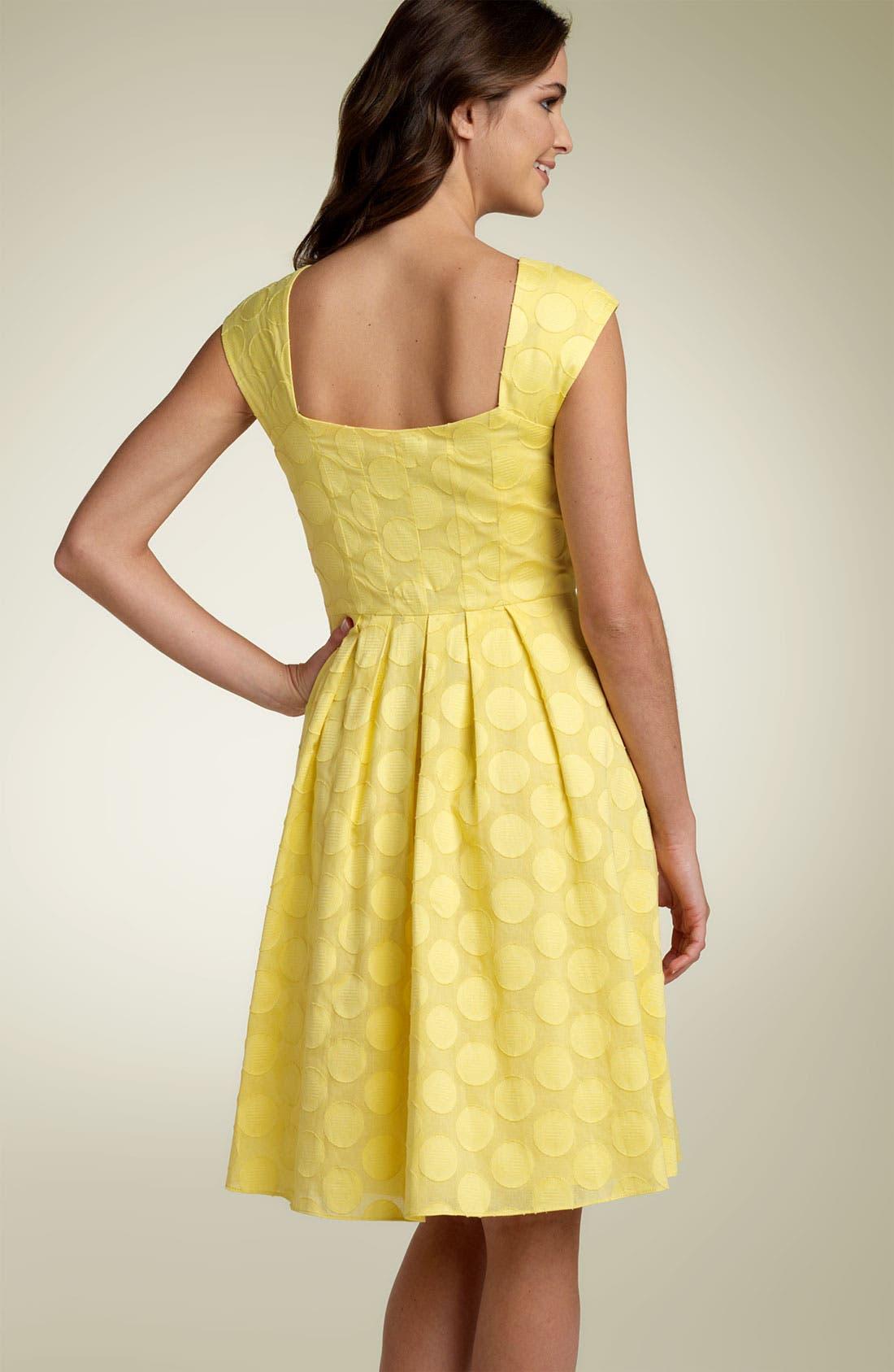 Alternate Image 2  - Calvin Klein Ruched Dot Dress