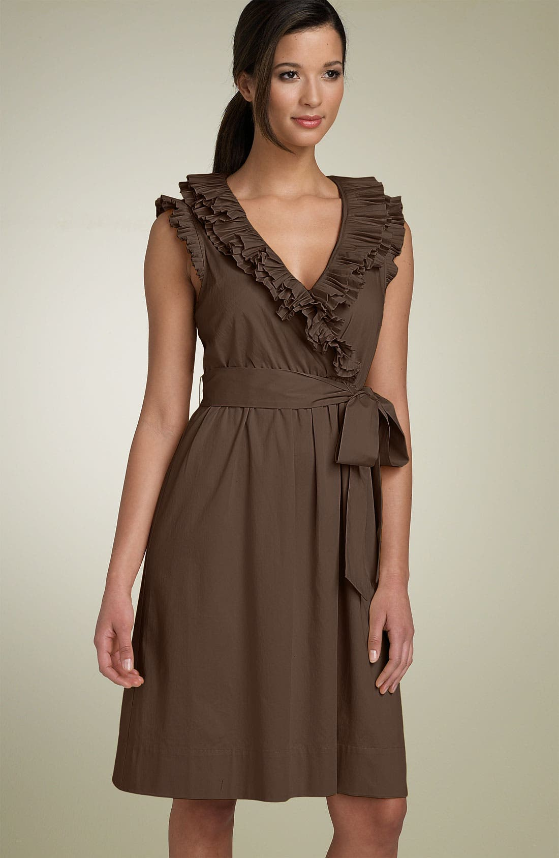 Alternate Image 1 Selected - Max & Cleo Pleated Ruffle Wrap Dress