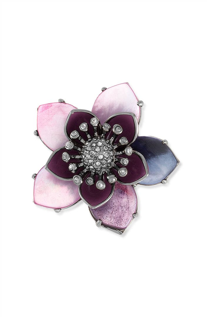 Juicy Couture Mother Of Pearl Flower Ring Nordstrom