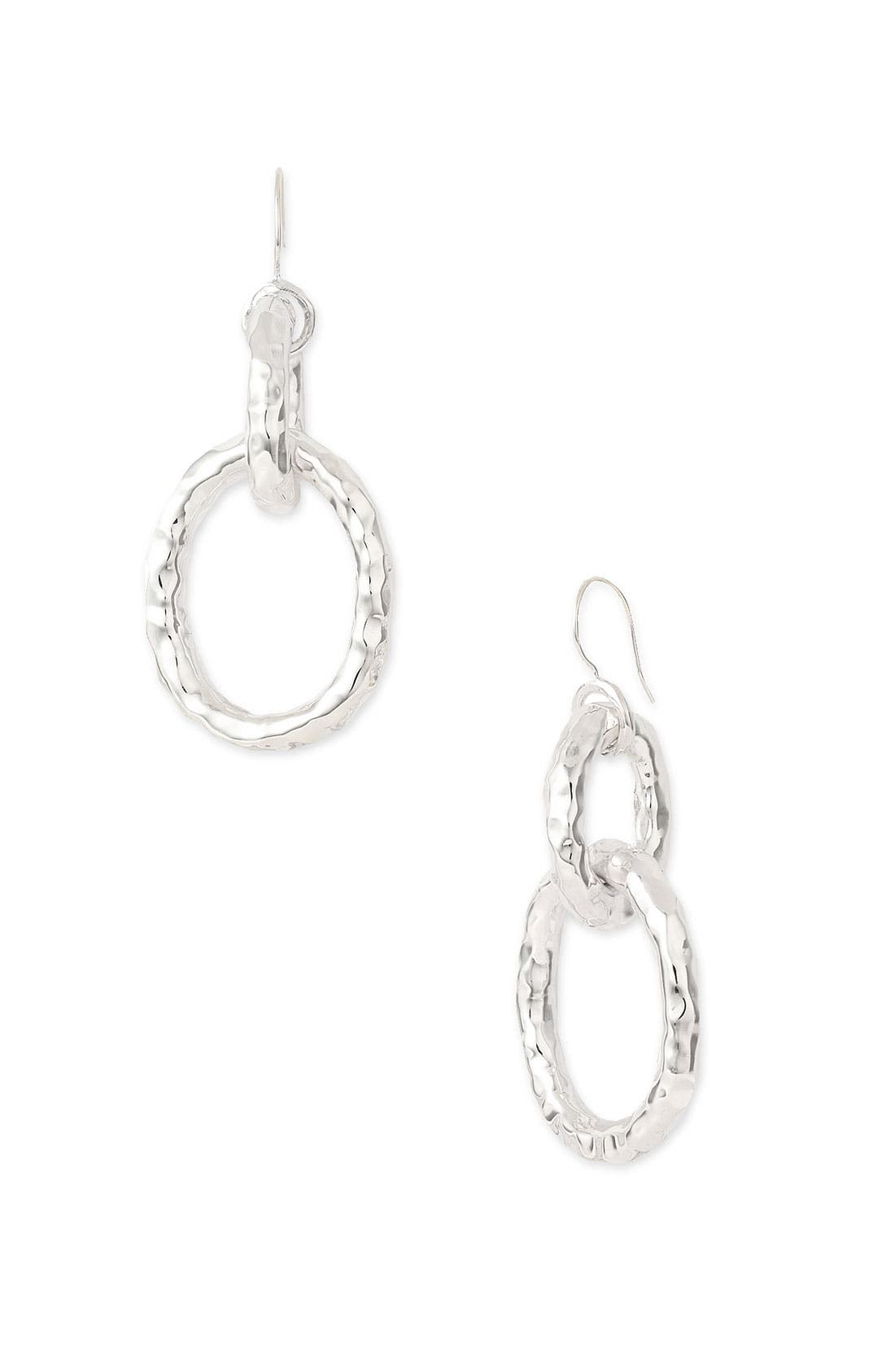 Alternate Image 1 Selected - Ippolita 'Glamazon' Hammered Chain Link Earrings