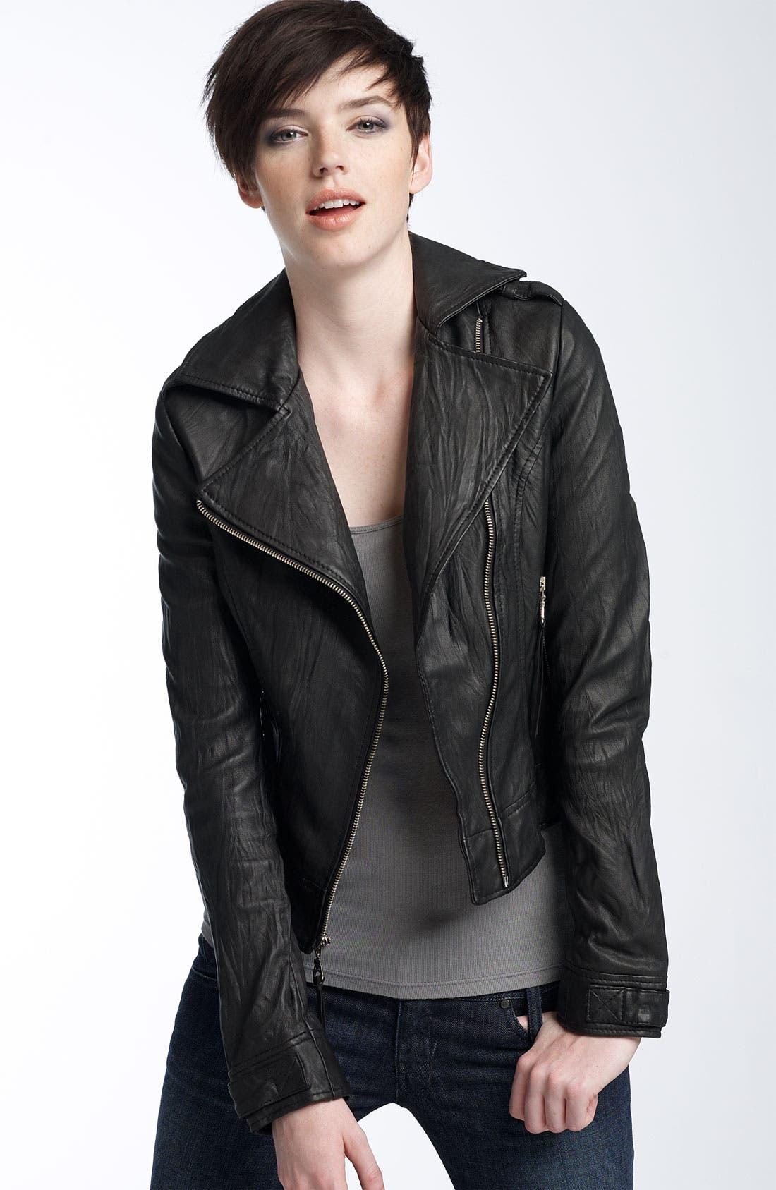 Alternate Image 1 Selected - Kenna-T Washed Leather Jacket
