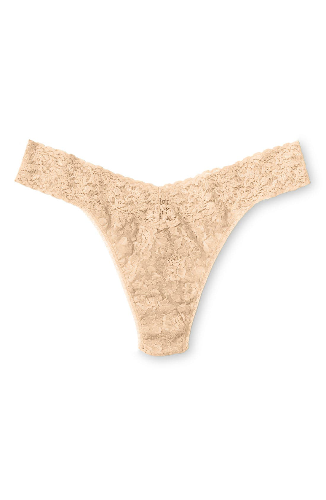 Alternate Image 1 Selected - Hanky Panky Original Rise Thong (Plus Size)
