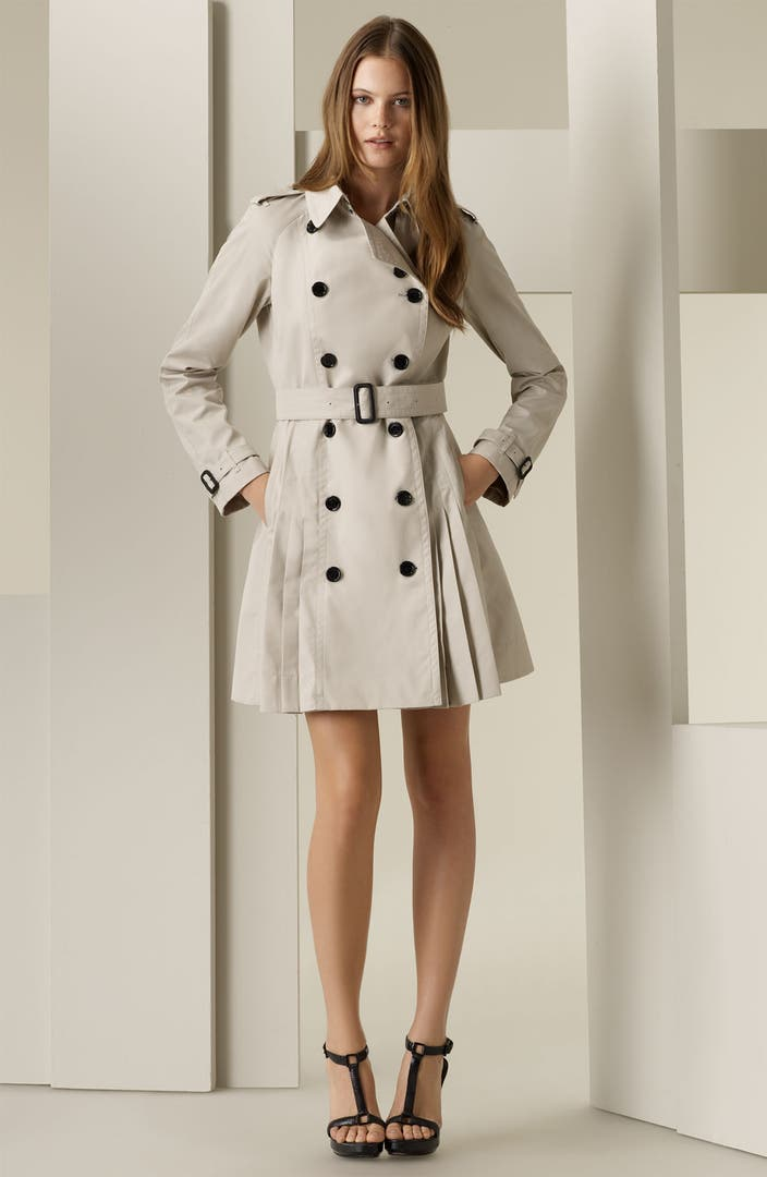 Burberry Pleated Trench Coat Nordstrom