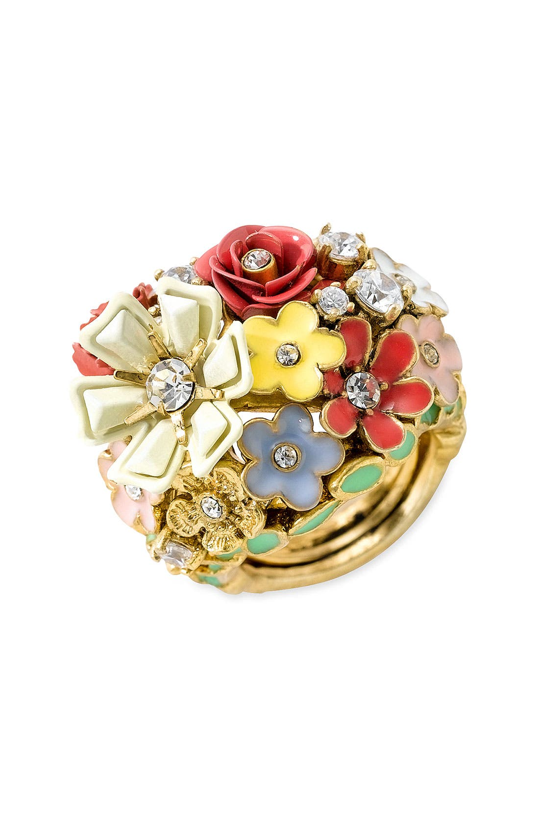 Main Image - Juicy Couture 'Flower Punk' Ring