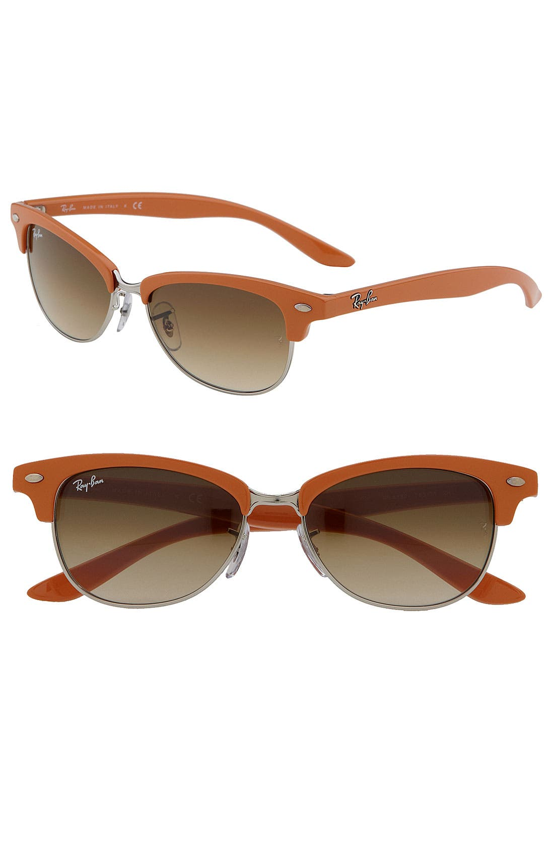 Alternate Image 1 Selected - Ray-Ban 'Clubmaster Cat' 52mm Sunglasses