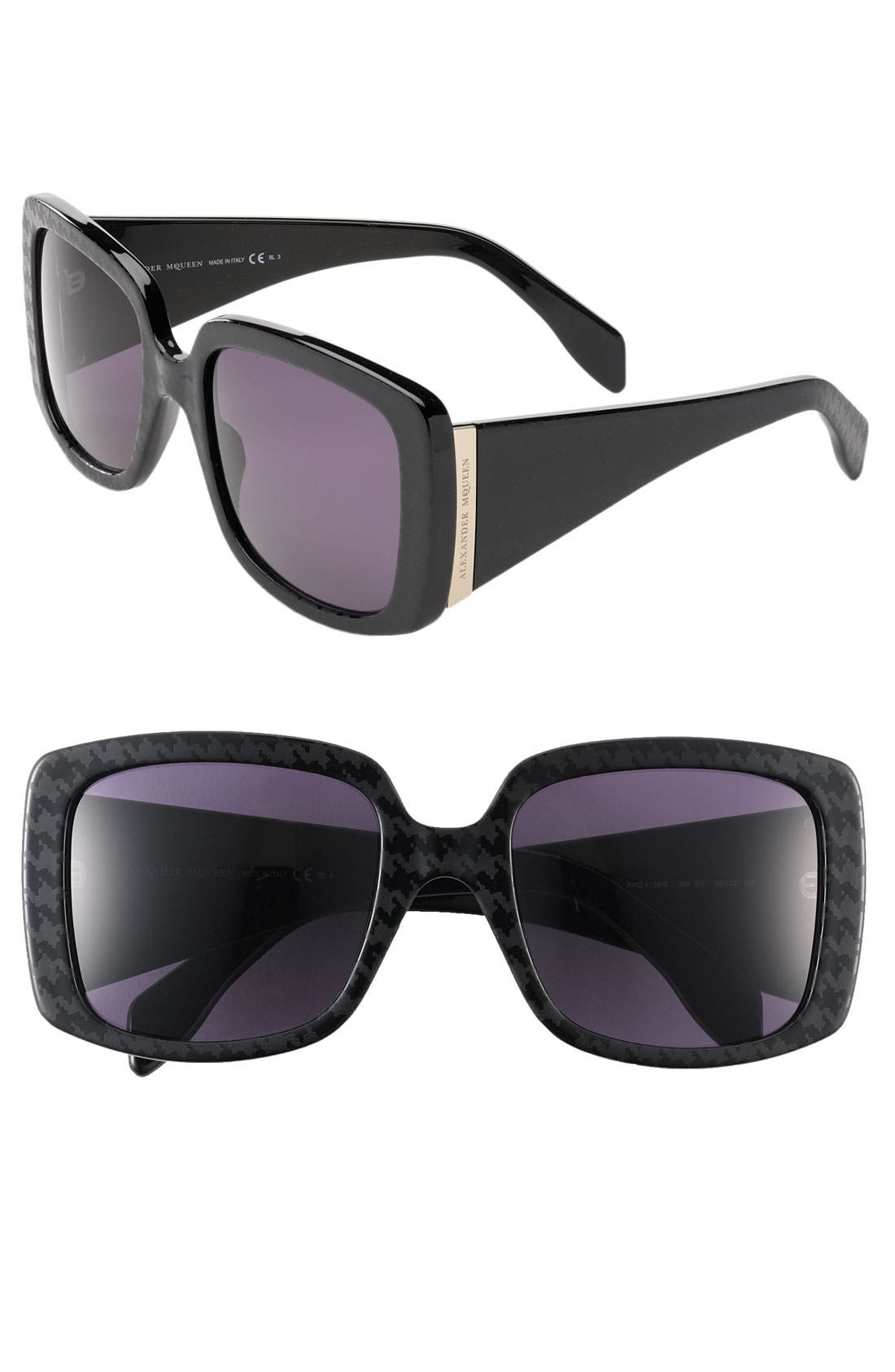 Alternate Image 1 Selected - Alexander McQueen Oversized Square Sunglasses