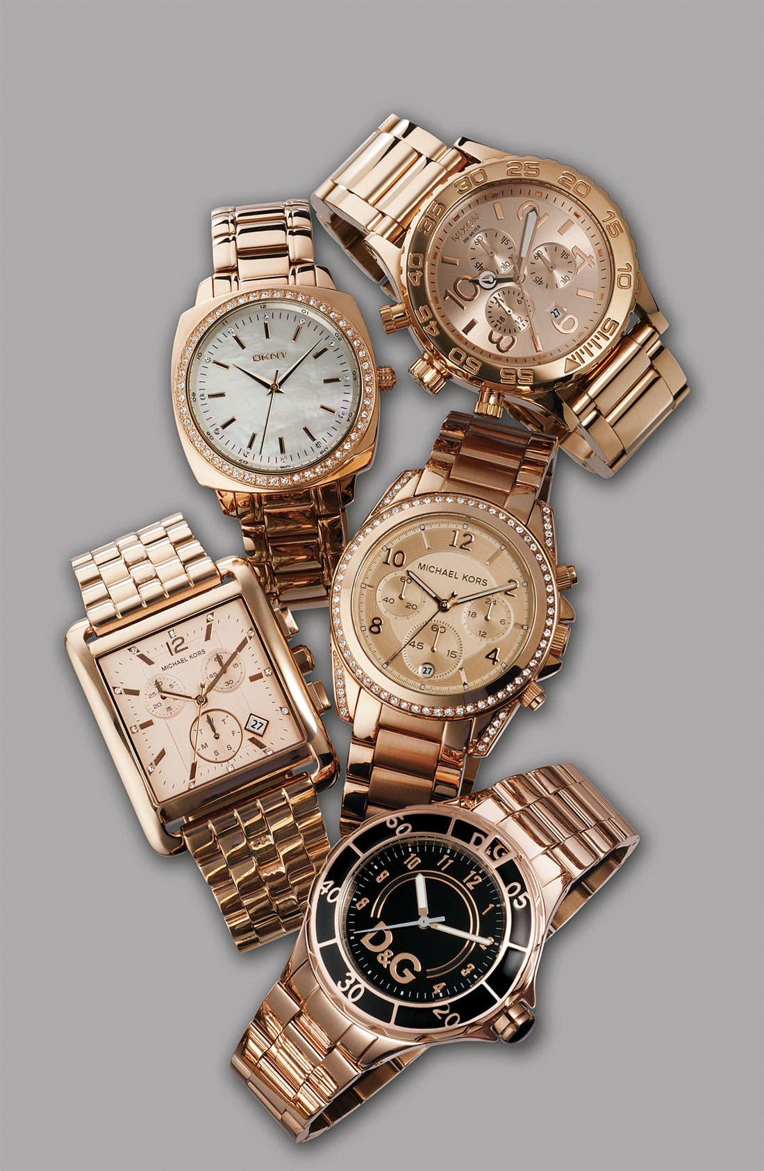 Alternate Image 2  - Michael Kors Rectangle Case Chronograph Watch