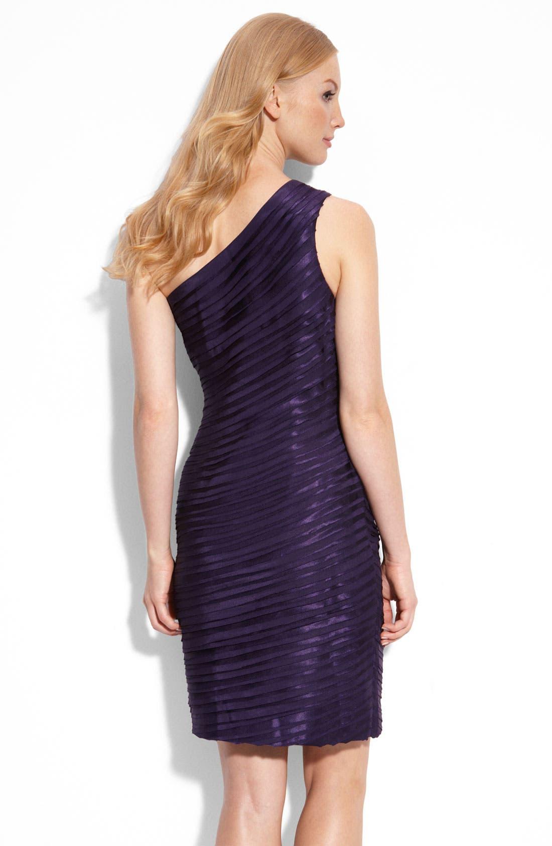 Alternate Image 2  - Calvin Klein One Shoulder Tiered Satin Dress