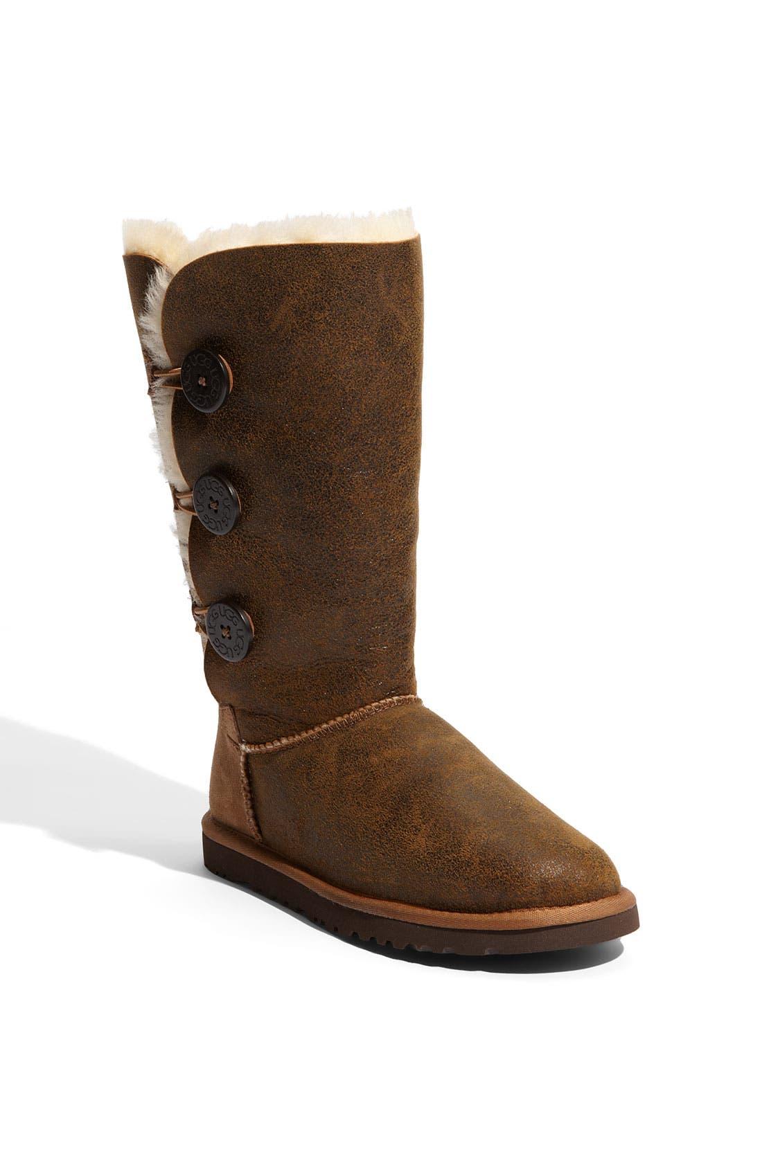 Alternate Image 1 Selected - UGG® Australia 'Bailey Button Triplet' Boot (Bomber) (Women)