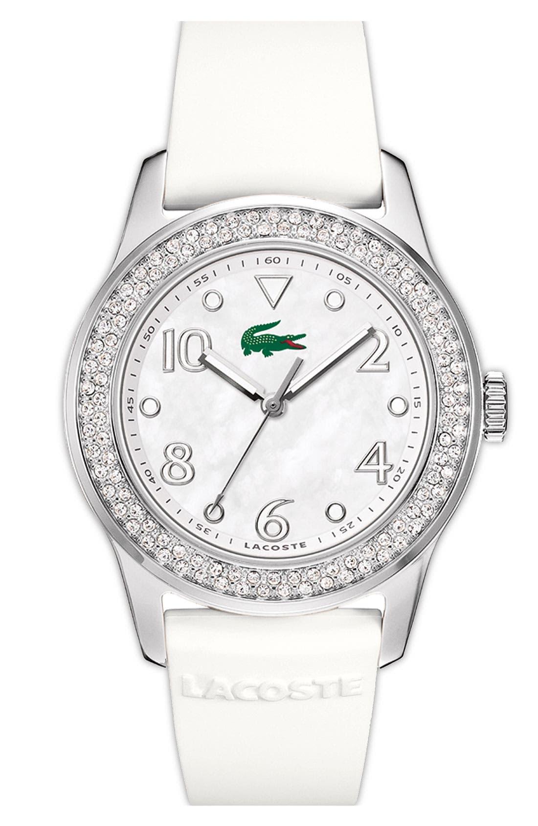 Alternate Image 1 Selected - Lacoste 'Advantage' Crystal Bezel Round Watch