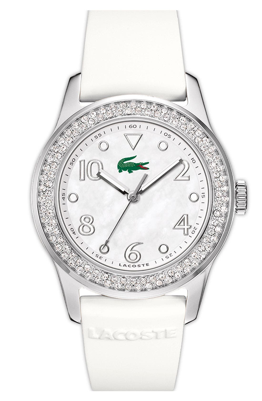 Main Image - Lacoste 'Advantage' Crystal Bezel Round Watch