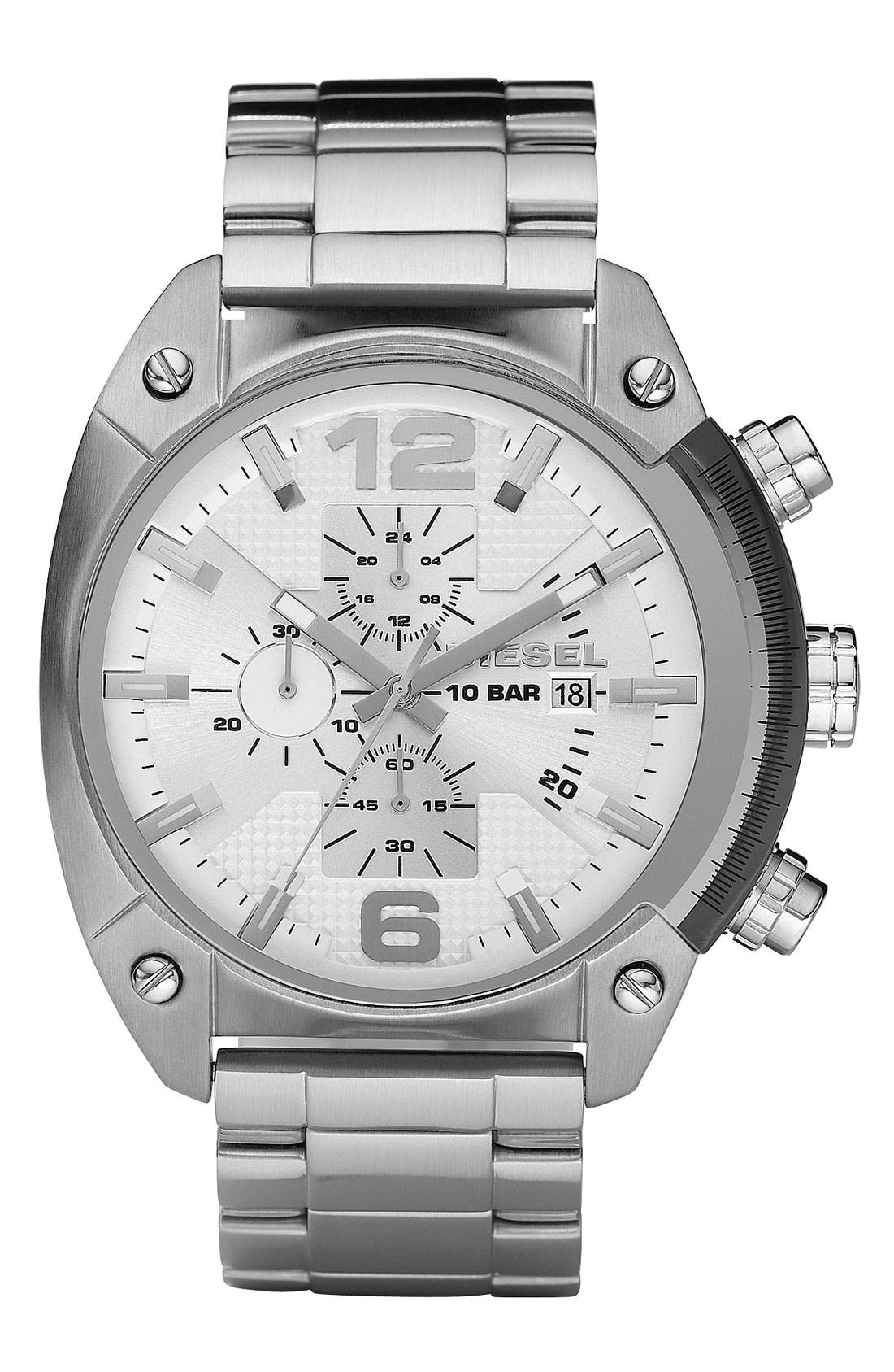 Main Image - DIESEL® 'Overflow' Chronograph Bracelet Watch, 46mm x 49mm
