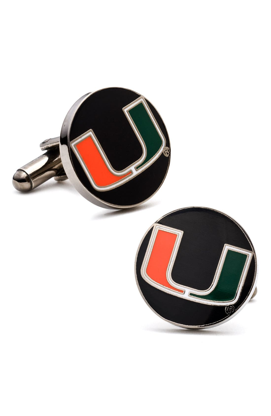 Alternate Image 1 Selected - 'Miami Hurricanes' Cuff Links