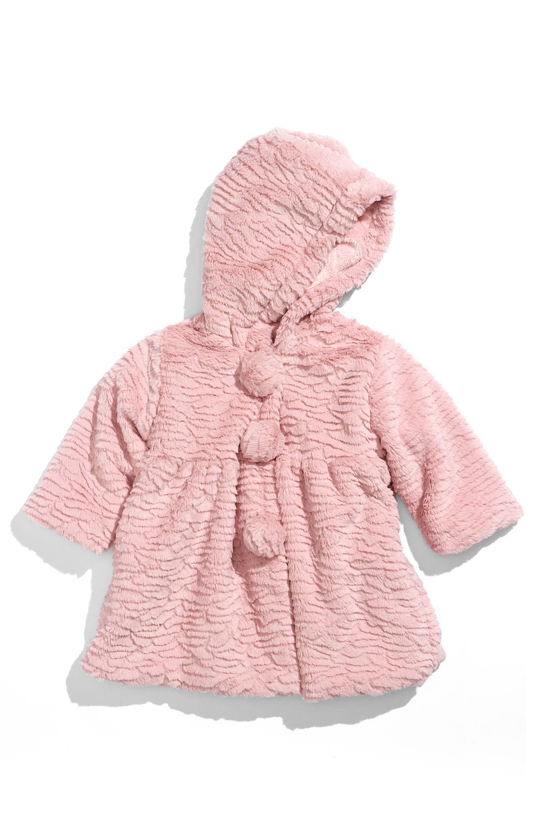 Alternate Image 1 Selected - Widgeon Faux Fur Pompom Coat (Infant)