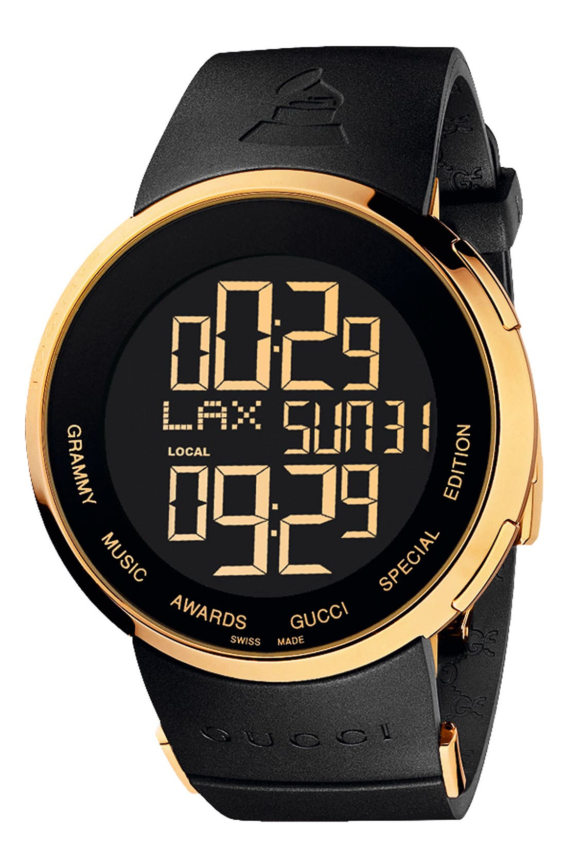 Alternate Image 1 Selected - Gucci 'I Gucci - Grammy' Digital Watch, 44mm