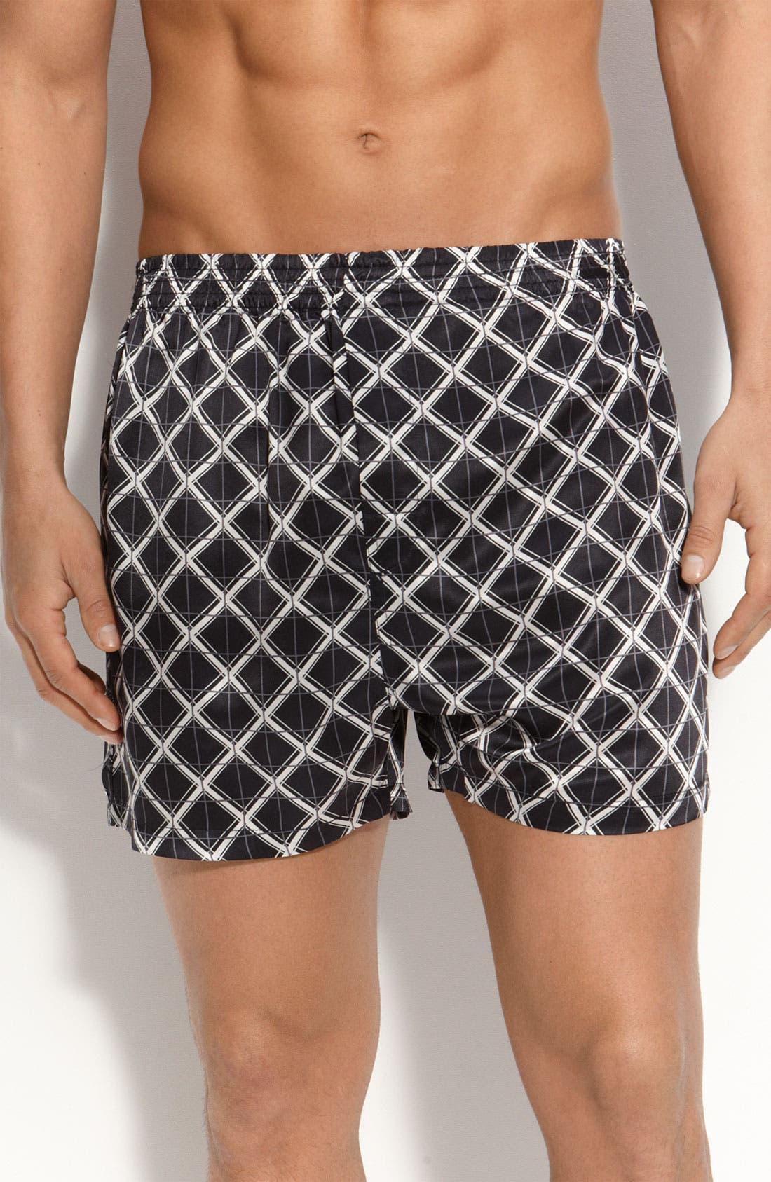 Main Image - Majestic International 'Ethans' Silk Boxer Shorts