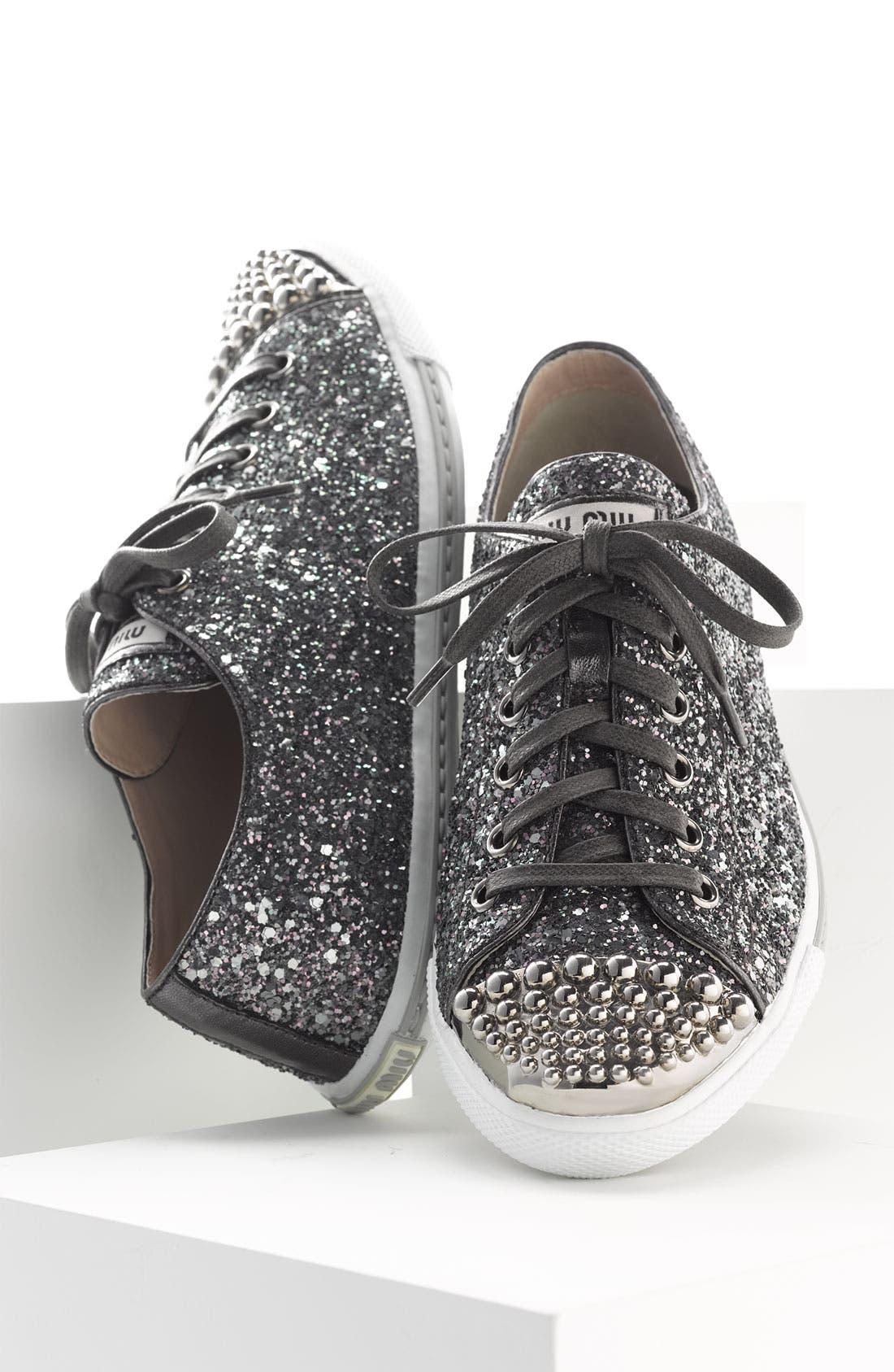 Alternate Image 4  - Miu Miu Glitter Sneaker