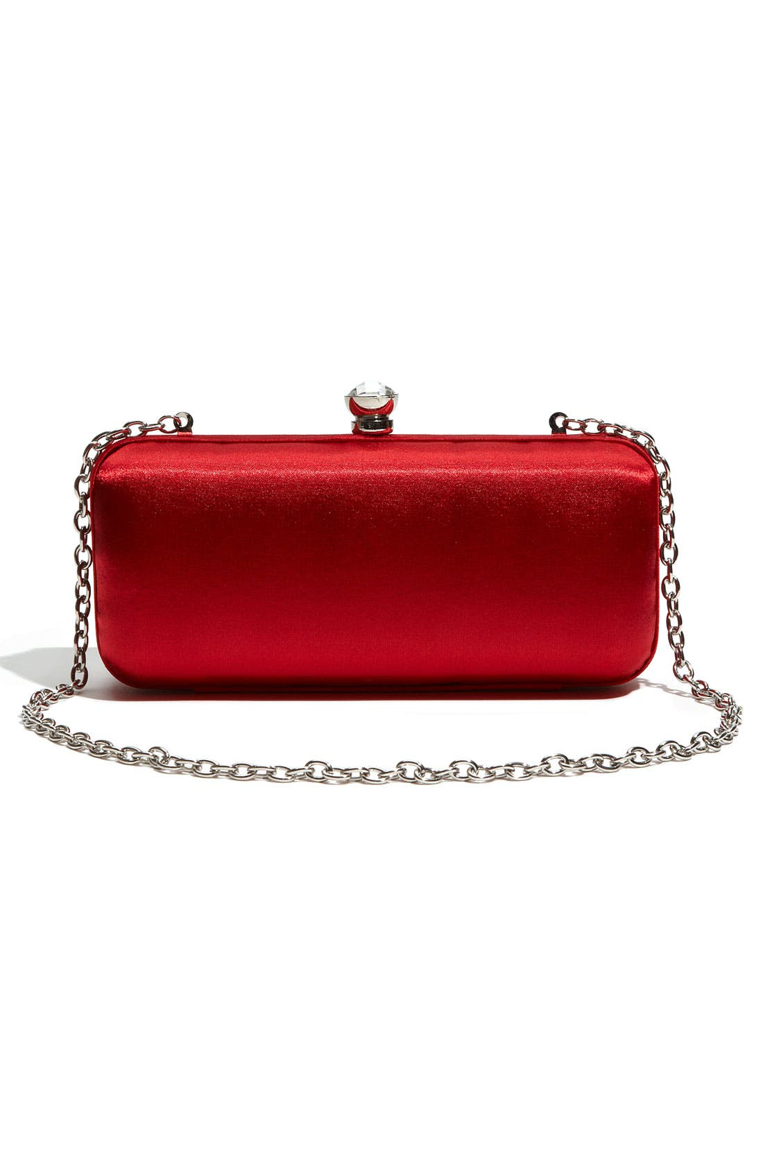 Alternate Image 4  - Expressions NYC Woven Satin Minaudiere Clutch