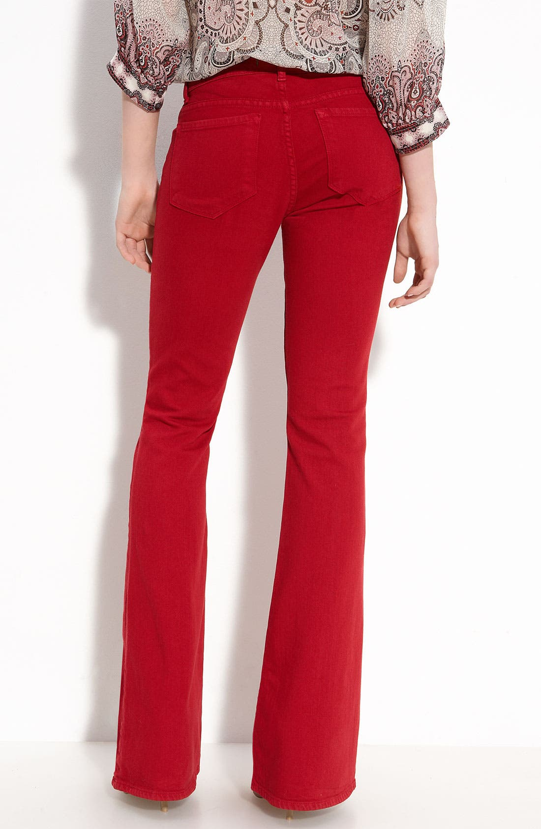 Alternate Image 2  - J Brand Mid Rise Flare Leg Stretch Jeans