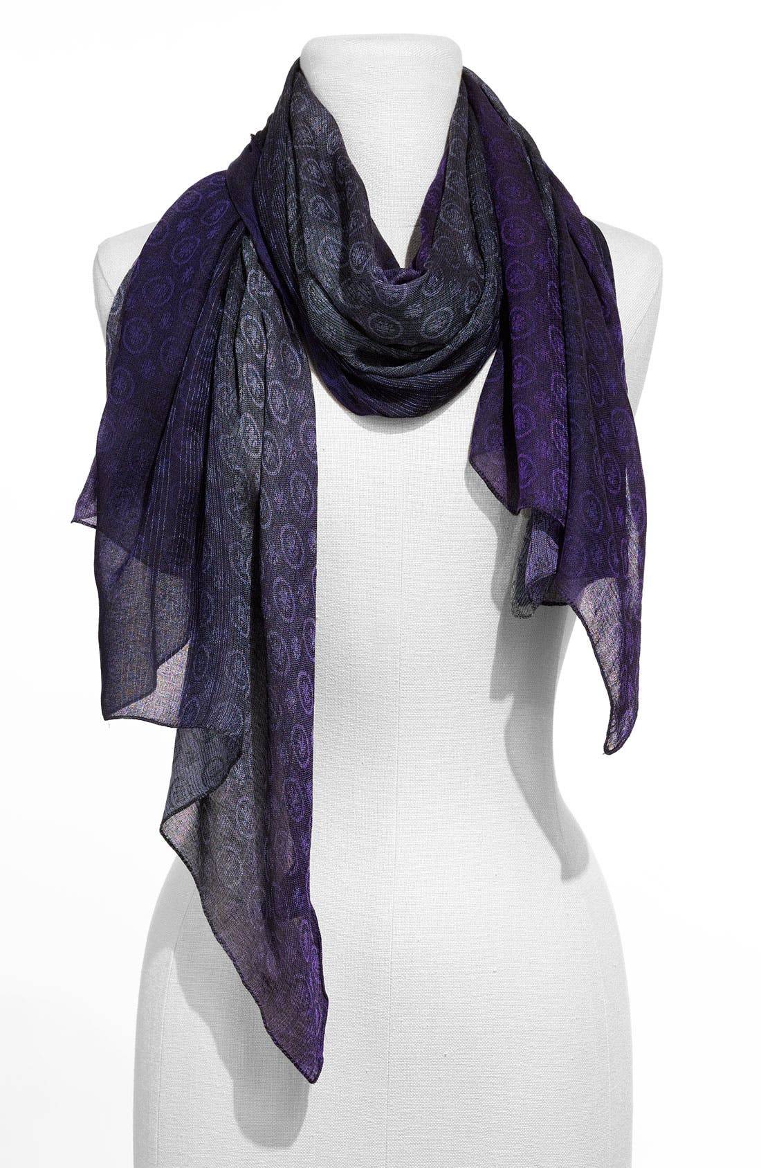 Alternate Image 1 Selected - Nordstrom Collection Patterned Ombré Scarf