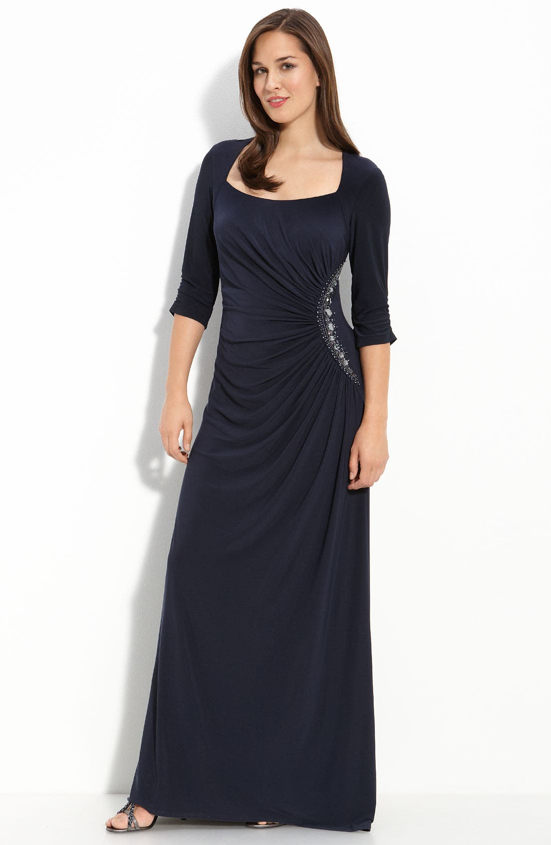Alternate Image 1 Selected - Adrianna Papell Beaded Jersey Gown