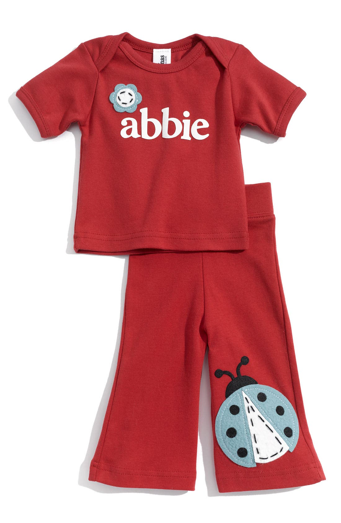 Alternate Image 1 Selected - Two Tinas Personalized Tee & Pants Set (Baby)