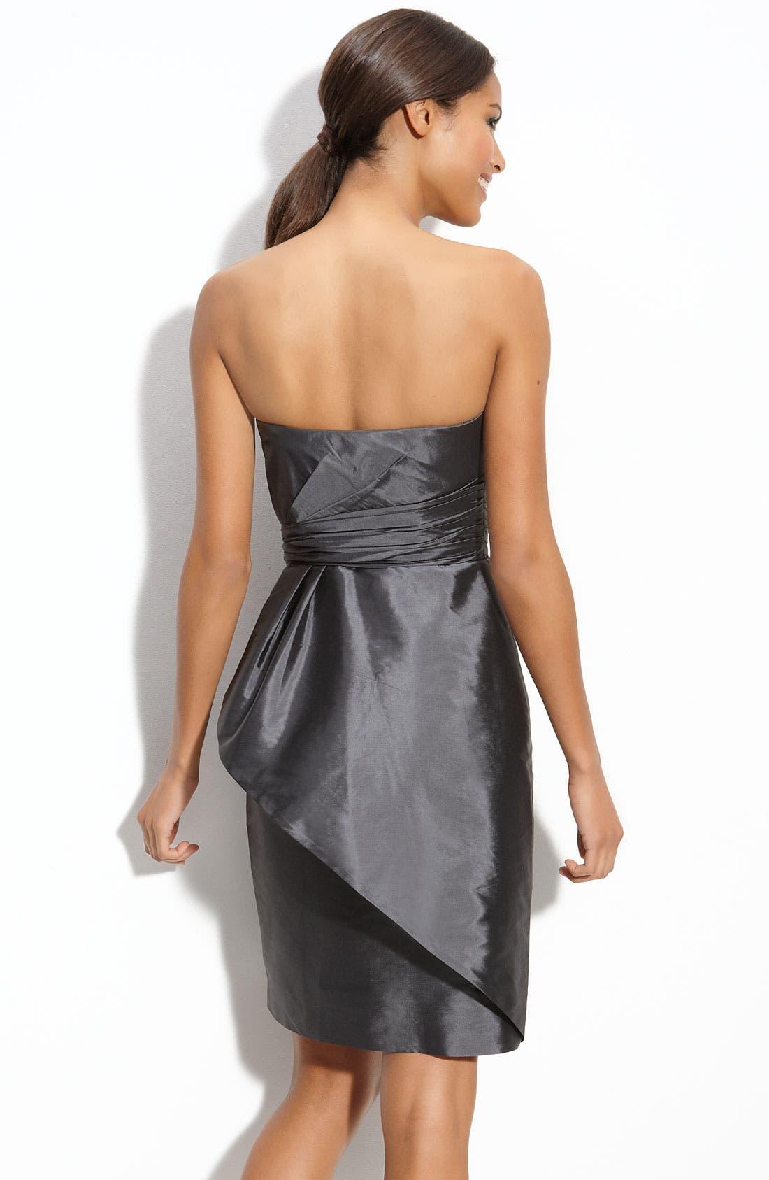 Alternate Image 2  - ML Monique Lhuillier Bridesmaids Strapless Taffeta Sheath Dress (Nordstrom Exclusive)