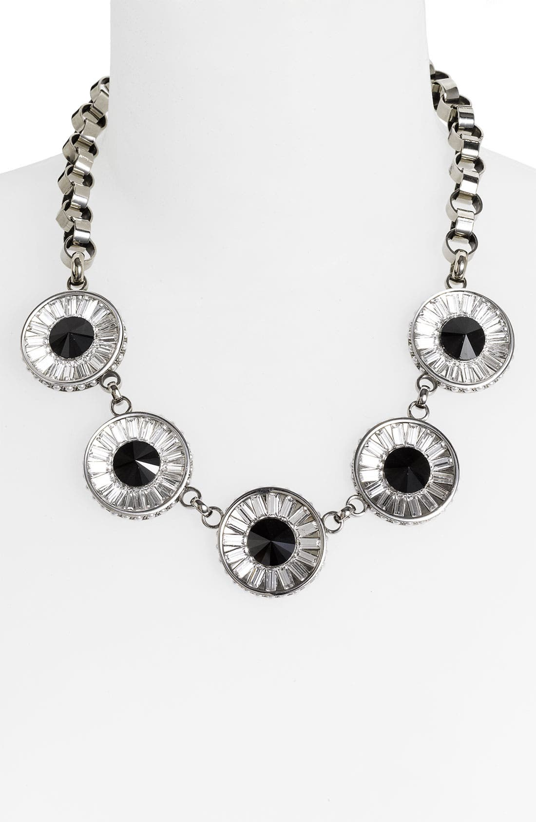 Main Image - St. John Collection Crystal & Faux Pearl Necklace