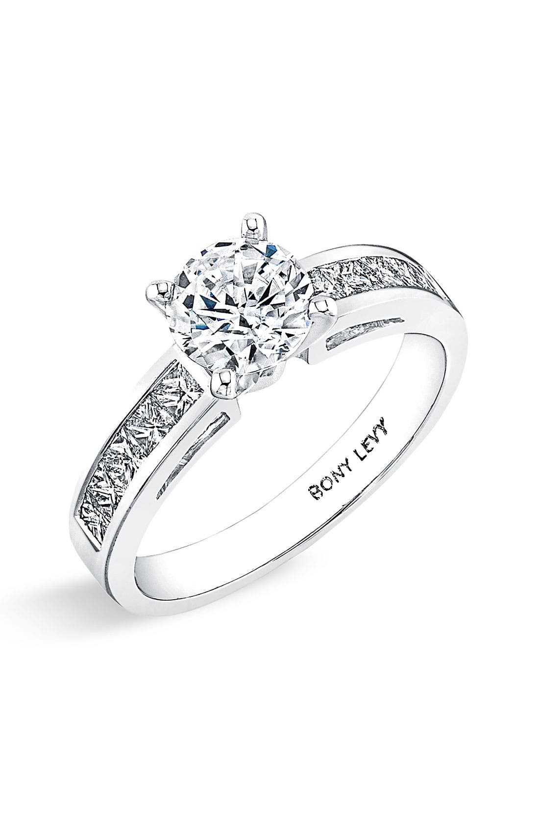 Main Image - Bony Levy Channel Set Diamond Engagement Ring Setting (Nordstrom Exclusive)