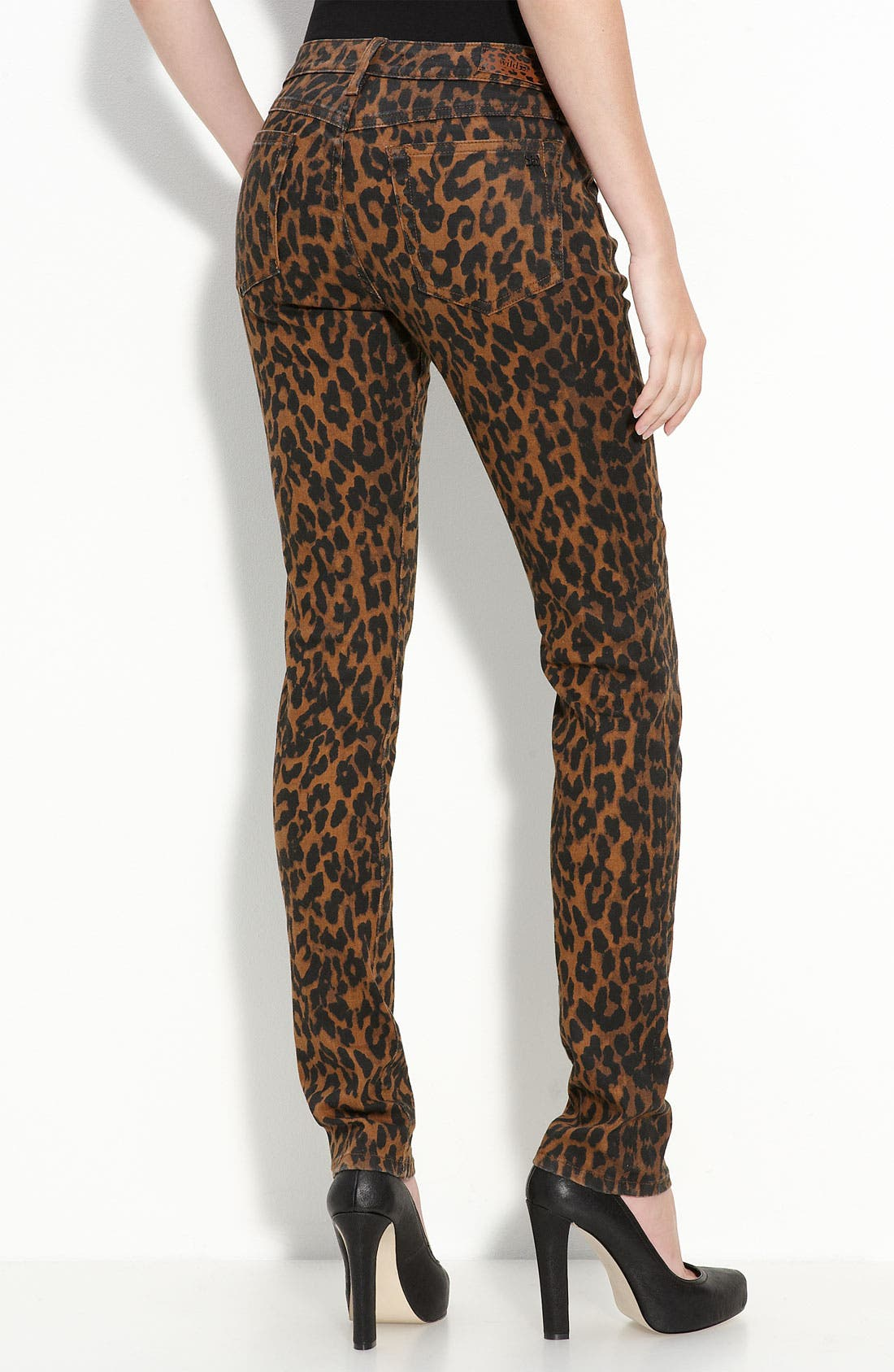 Alternate Image 1 Selected - Joe's Leopard Print Skinny Stretch Denim Jeans
