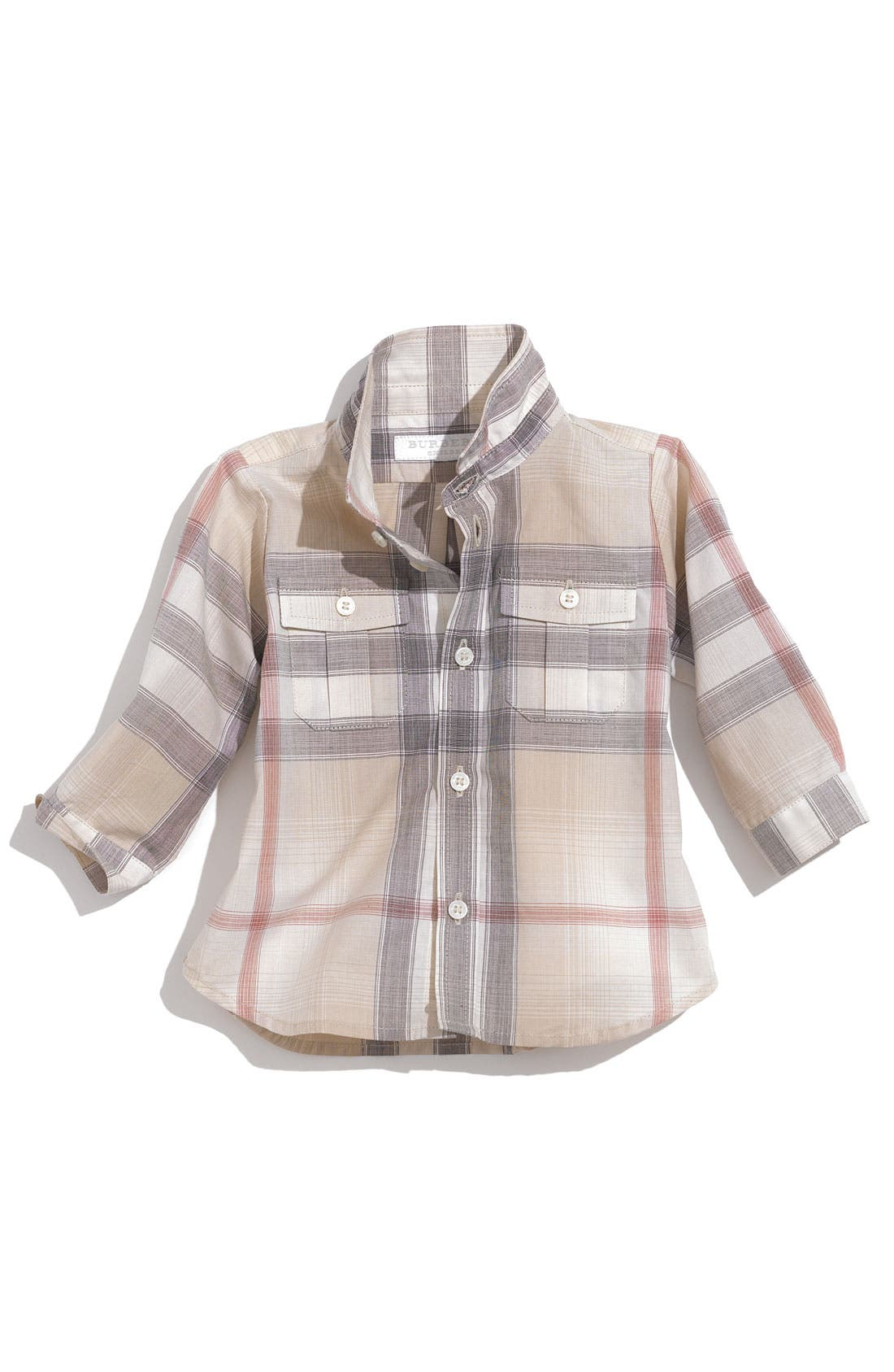 Main Image - Burberry Check Shirt (Infant)