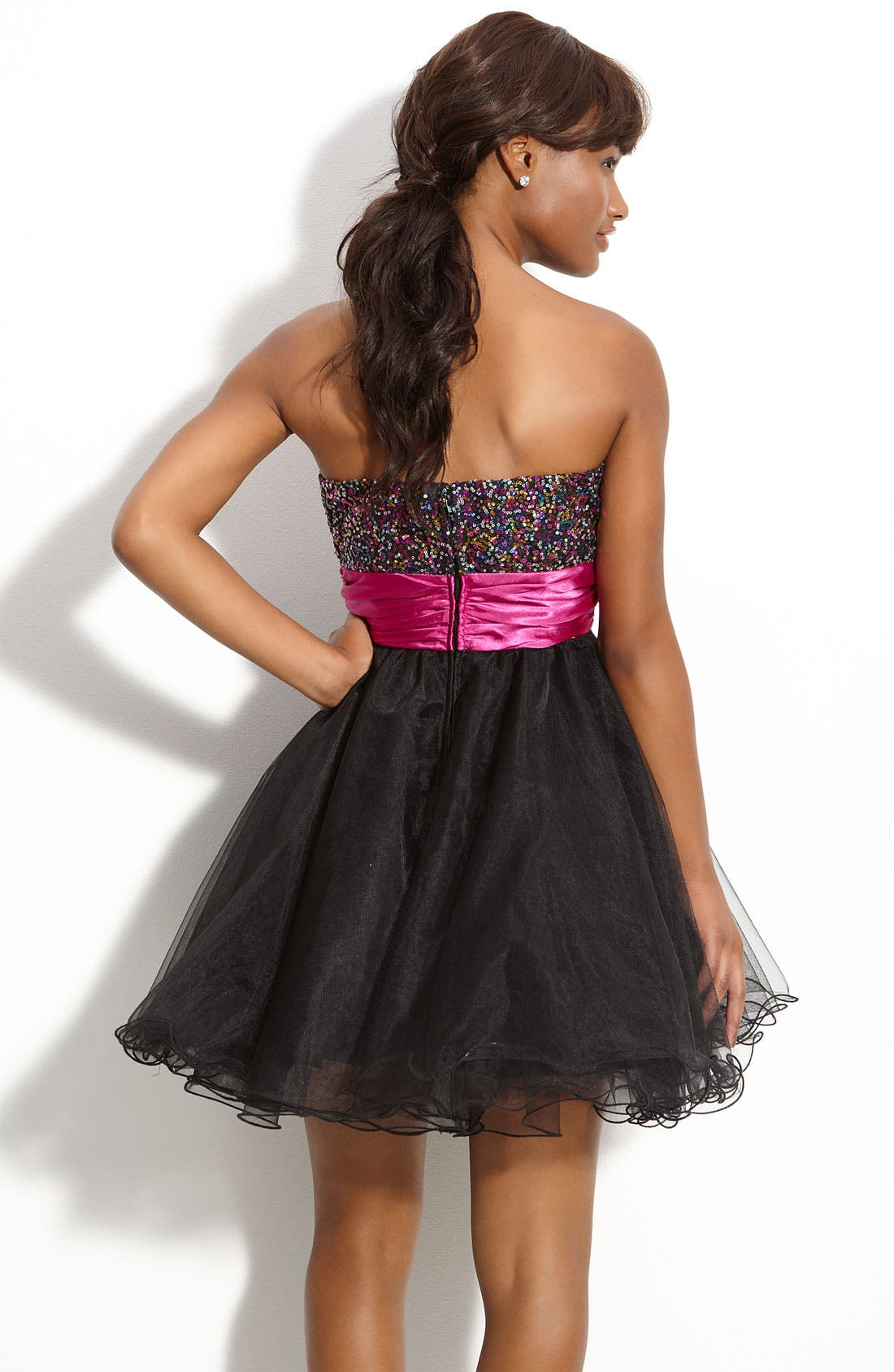 Alternate Image 2  - Accidentally In Love Sequin Embellished Dress (Juniors)