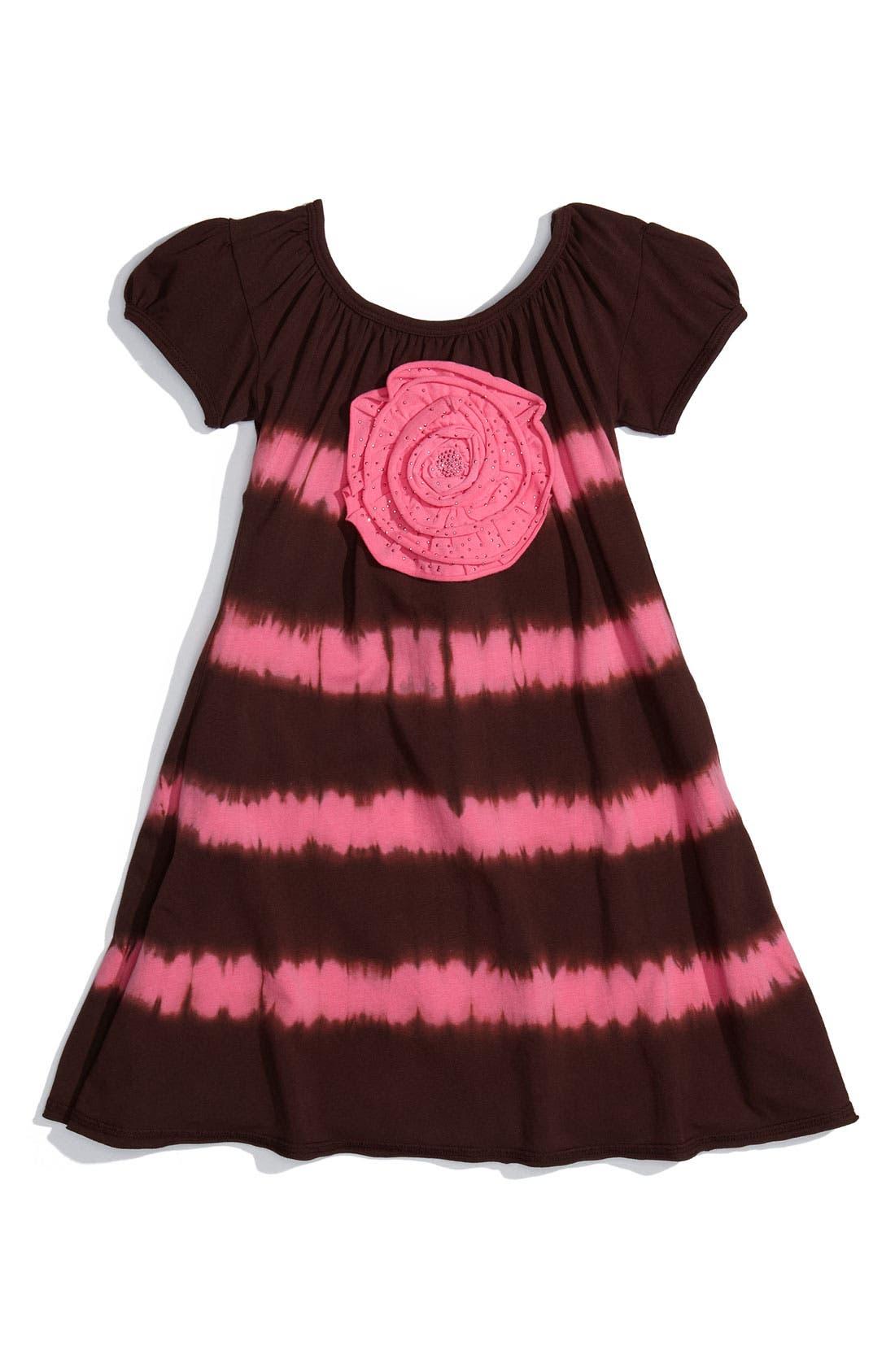 Alternate Image 1 Selected - Little Angel Club Stripe A-Line Dress (Little Girls)