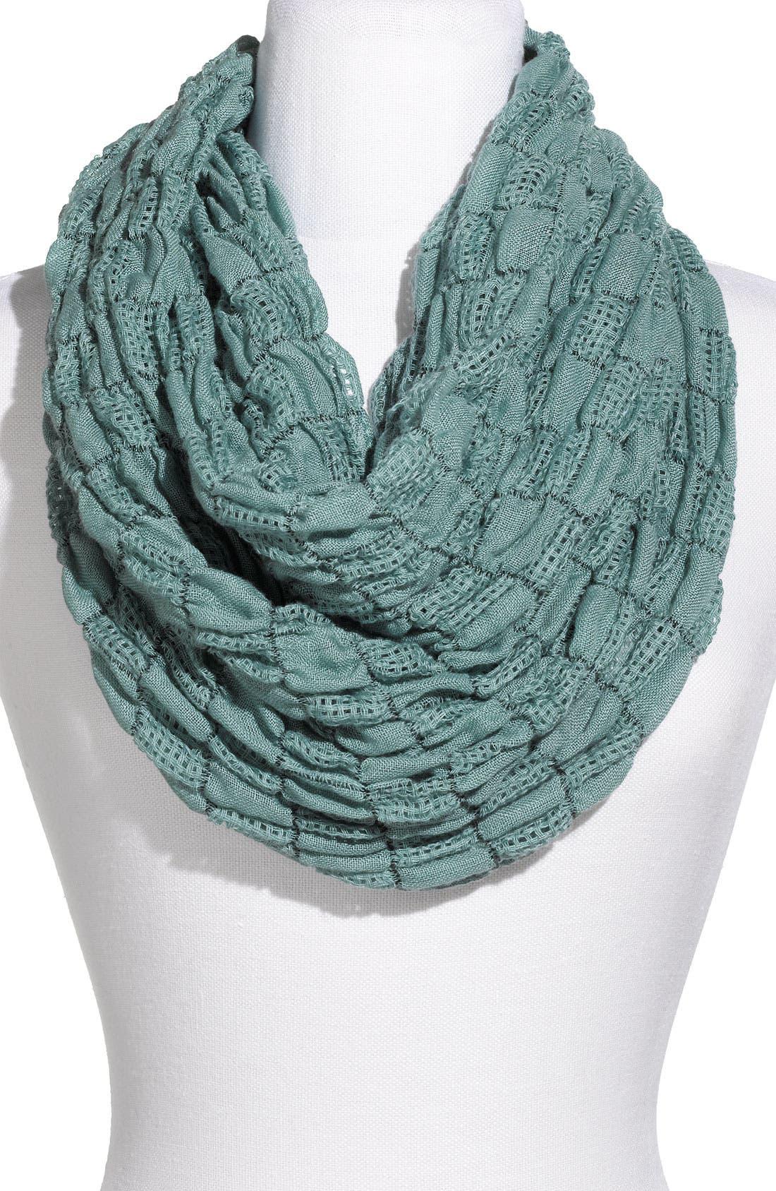 Main Image - Rubbish® Textured Check Infinity Scarf