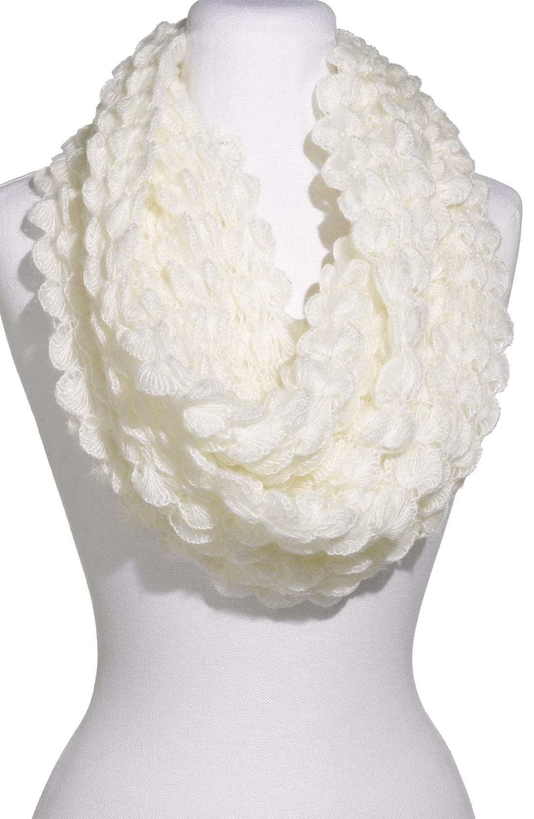 Alternate Image 1 Selected - Frenchi® Scallop Knit Infinity Scarf