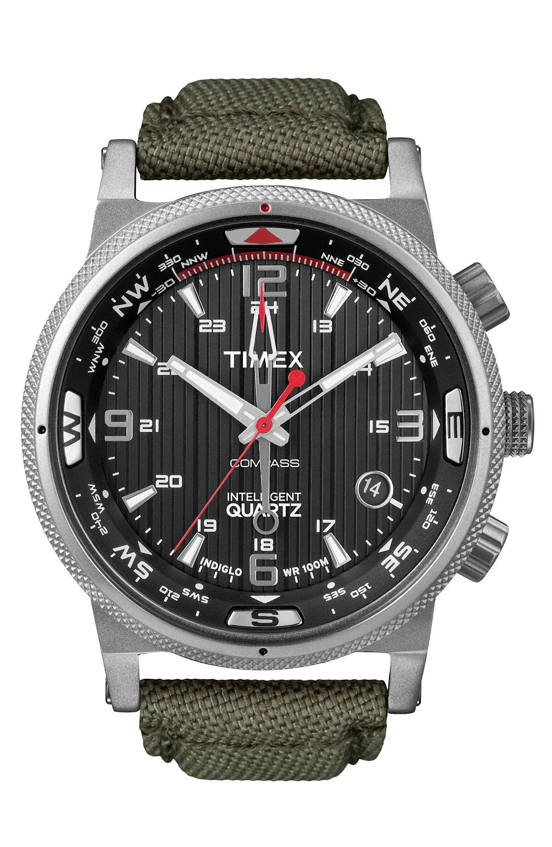 Main Image - Timex® 'Intelligent Quartz' Compass Dial Watch