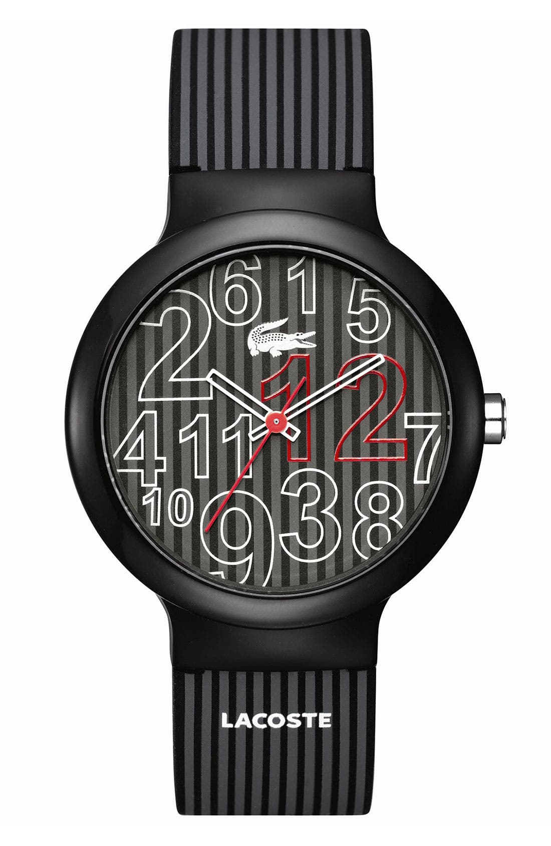 Alternate Image 1 Selected - Lacoste 'Goa' Silicone Strap Watch