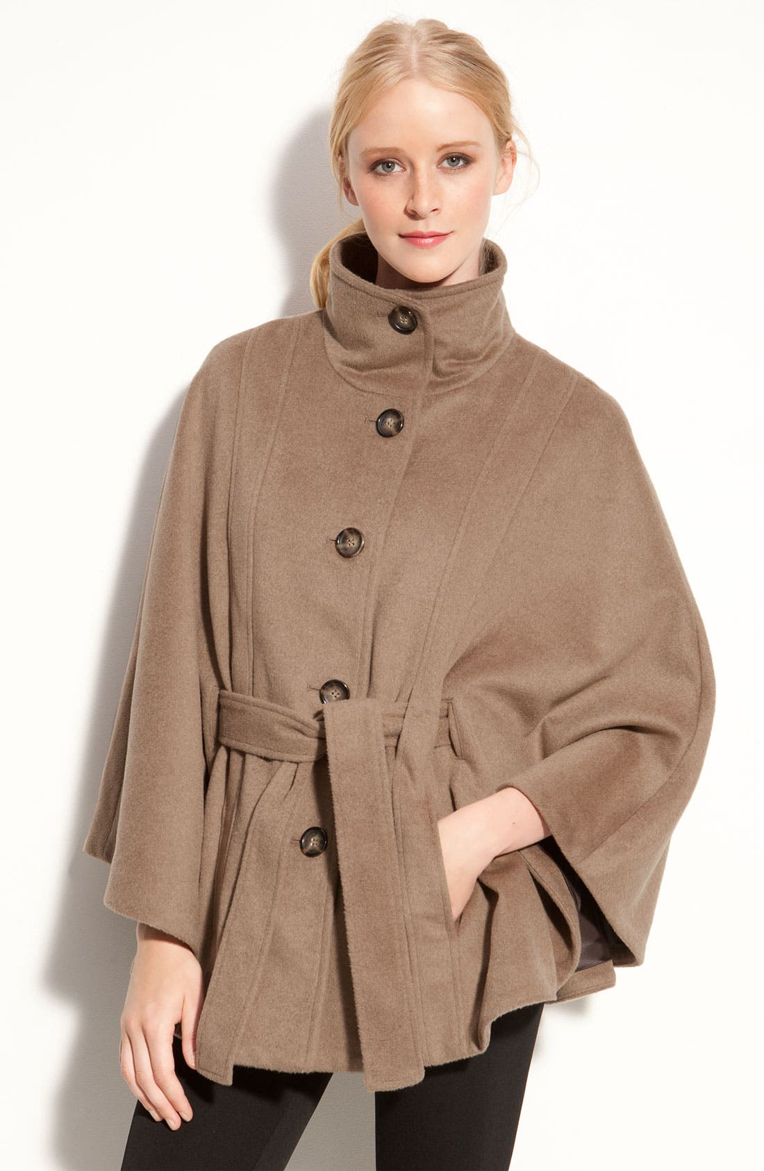 Main Image - Calvin Klein Belted Cape