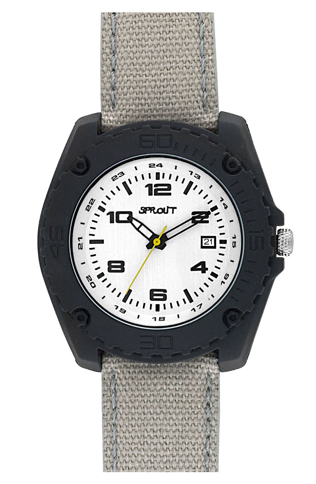Main Image - SPROUT™ Watches Organic Cotton Strap Watch, 37mm