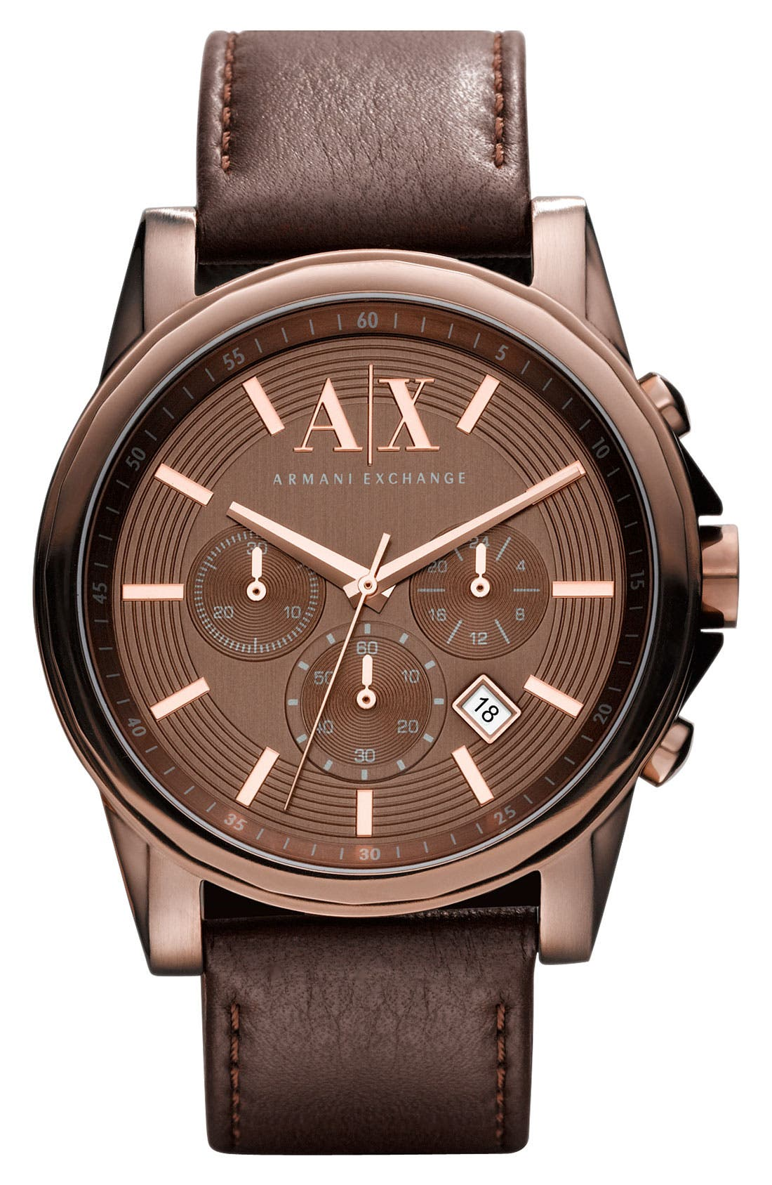 Alternate Image 1 Selected - AX Armani Exchange Round Chronograph Watch