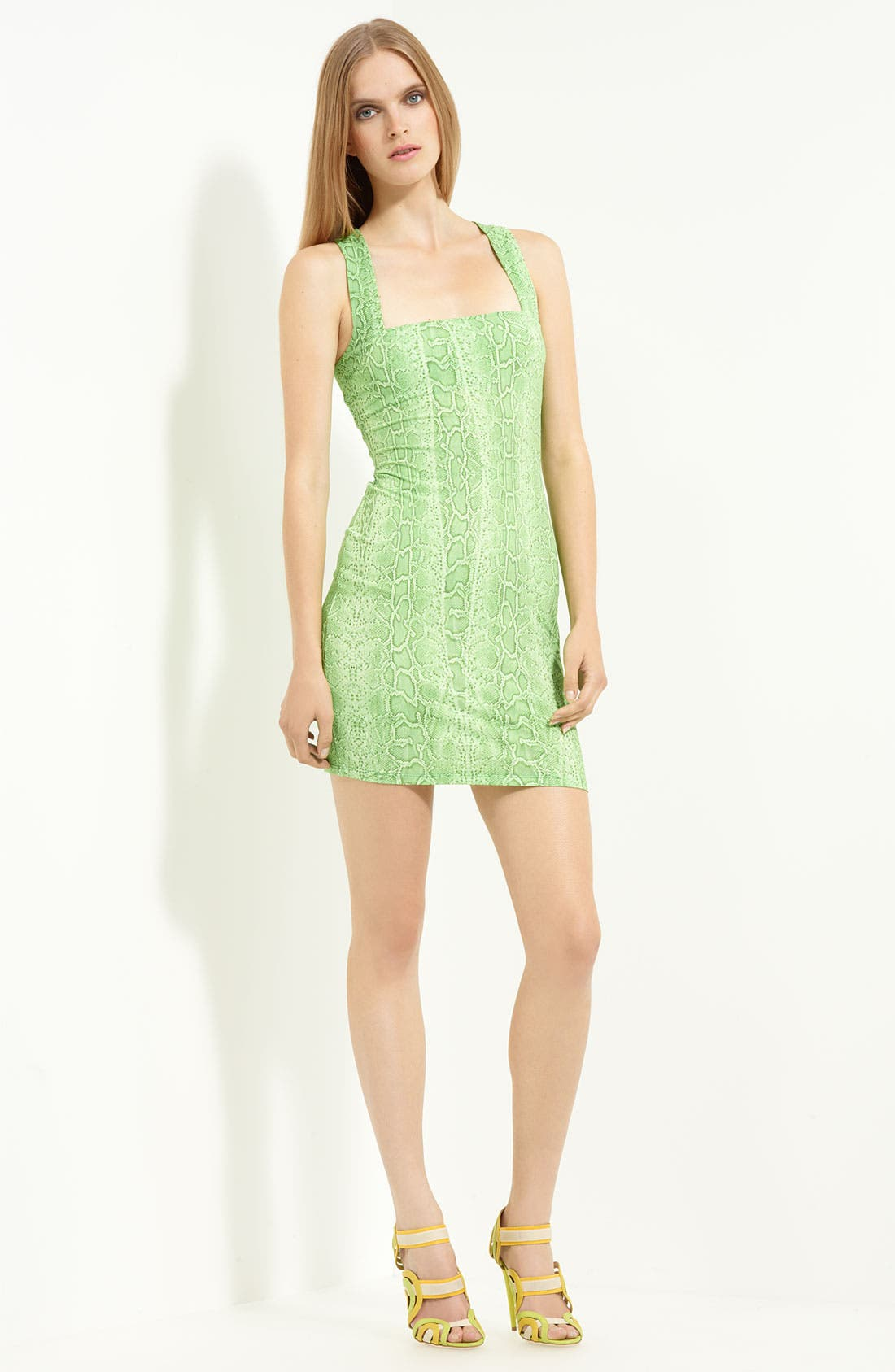 Alternate Image 1 Selected - Roberto Cavalli Square Neck Jersey Dress